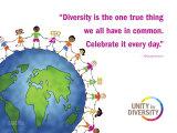 Fördert die Vielfalt, Englisch Poster