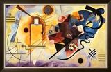 Amarelo, vermelho e azul, cerca de 1925 Pôsters por Wassily Kandinsky