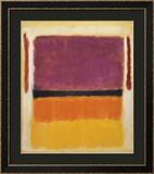 Sem título (Violeta, Preto, Laranja, Amarelo sobre Branco e Vermelho), 1949 Posters por Mark Rothko