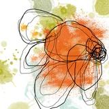 Orange Liquid Flower Poster von Jan Weiss
