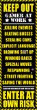 Spil, Adgang forbudt, på engelsk Plakat