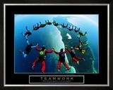 Teamwork: Skydivers II Posters