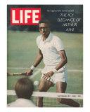 Tennis Player Arthur Ashe, September 20, 1968 Reproduction photographique Premium par Richard Meek