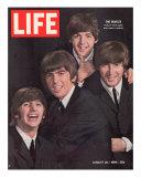 The Beatles, Ringo Starr, George Harrison, Paul Mccartney and John Lennon, August 28, 1964 Reproduction photographique Premium par John Dominis