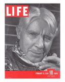 Poet Carl Sandburg, February 21, 1938 Photographic Print by Bernard Hoffman