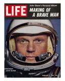 Astronaut John Glenn, Making of a Brave Man, February 2, 1962 Fotografie-Druck von Ralph Morse