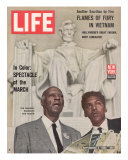 African American Activists Randolph and Rustin, Organizers of the Freedom March, September 6, 1963 Reproduction photographique par Leonard Mccombe