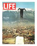 Ski Jumper at Innsbruck Olympics, February 14, 1964 Fotoprint van Ralph Crane