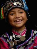 Hani People, Yuanyang, Honghe Prefecture, Yunnan Province, China Fotografie-Druck von Pete Oxford