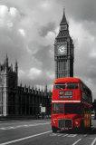 Roter Doppeldeckerbus in London Kunstdrucke