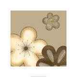 Pop Blossoms in Neutral I Impressão giclée premium por Erica J. Vess