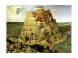 Babel-tårnet, ca. 1563 Giclee-trykk av Pieter Bruegel the Elder