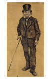 Orphan Man with Top Hat and Stick Plakater af Vincent van Gogh
