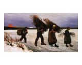 Wood Gathers in the Snow Giclee Print by Vincent van Gogh