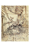 Study for the Cafe Terrace at Night Giclee-trykk av Vincent van Gogh