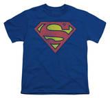 Youth: DC Comics - Superman - Retro Logo Distressed T-Shirt