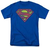 Superman - Distressed Retro Logo T-Shirt