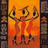 Three Gatherers Poster par Izabella Dahlke