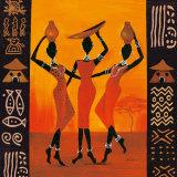 Three Gatherers Plakat av Izabella Dahlke