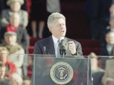 President Bill Clinton Delivers His First Inaugural Address, January 20, 1993 Photographic Print