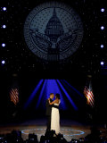 President Obama and First Lady Michelle Obama Dance, Neighborhood Inaugural Ball, January 20, 2009 Photographic Print