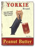 Yorkie Peanut Butter Placa de madeira