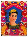 Mexico Frida Kahlo Senorita Fiesta Placa de madeira