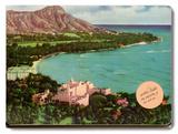 Diamond Head, Royal Hawaiian & Moana Placa de madeira