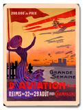 French Aviation Week Air Show Placa de madeira