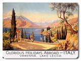 Holidays Abroad - Italy SR, 1928 Placa de madeira