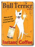 Bull Terrier Instant Coffee 木製看板