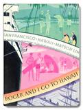 Roger and I go to Hawaii Placa de madeira