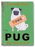 Naturally Sweet Pug Orange Juice 木製看板