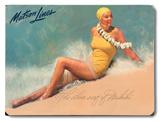 The Silver Surf of Waikiki - Matson Lines Placa de madeira