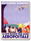 French Aeropostale Aviation Placa de madeira
