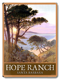 Hope Ranch Beach Santa Barbara Placa de madeira