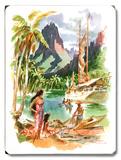 Taiti Placa de madeira