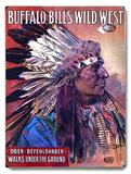 Buffalo Bill Wild West Indian Placa de madeira