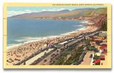 Los Angeles County Beach Placa de madeira