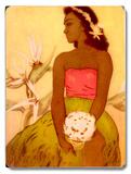 Hula Dancer Hawaii Placa de madeira
