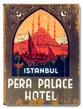 Istanbul Pera Palace Hotel 木製看板