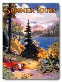 Summer Tours Union Pacific Railroad Placa de madeira