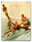 Matson, Surfboard by Hula Girl Placa de madeira
