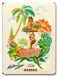 Matson Lines Tropical Fruit Platter 木製看板
