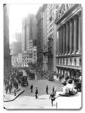 New York City Wall Street Placa de madeira