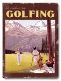 I'd Rather be Golfing Placa de madeira