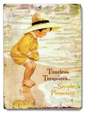 Timeless Treasures Placa de madeira
