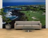 Aerial Francis H. Li Brown Golf Course, Hawaii, USA Fototapete – groß