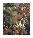 St Francis and the Birds Kunst af Stanley Spencer