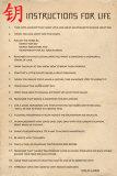 Instructions pour la vie du Dalai Lama en anglais Posters